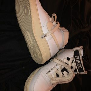 Nike Shoes - high top airfroces off white & white
